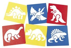 Giant dinosaur stencils