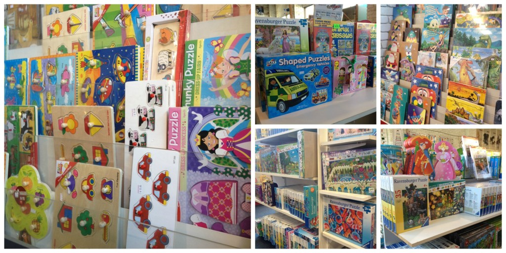 Just some of the puzzles at Trover Learning including Ravensburger, Melissa & Doug and Djeco puzzles