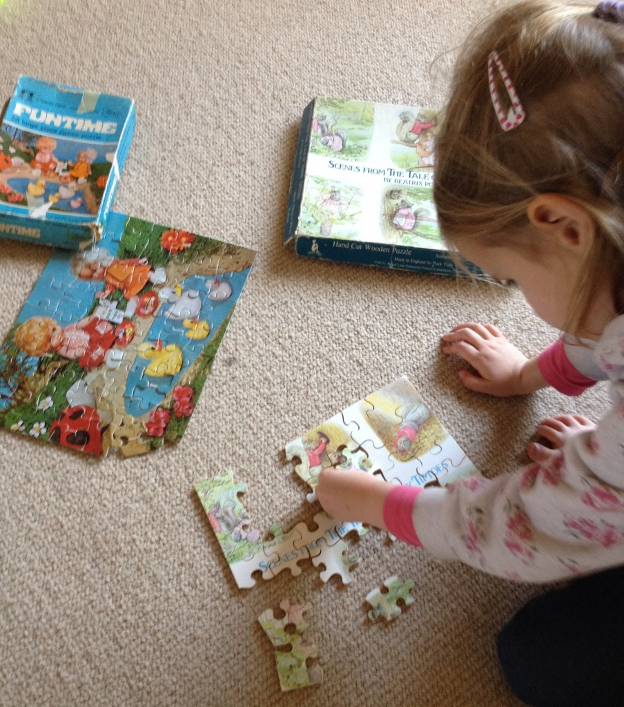 Miss TT with two of my favourite childhood puzzles (can't believe my Mum didn't lose any pieces!)