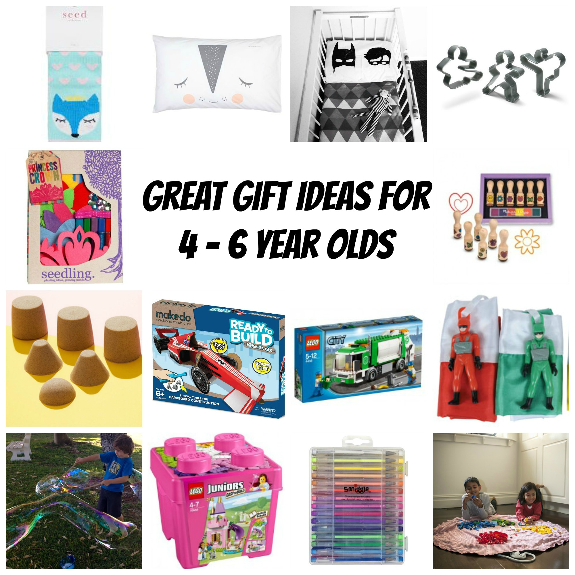 Great gift ideas for 4 - 6 year olds | giftgrapevine.com.au
