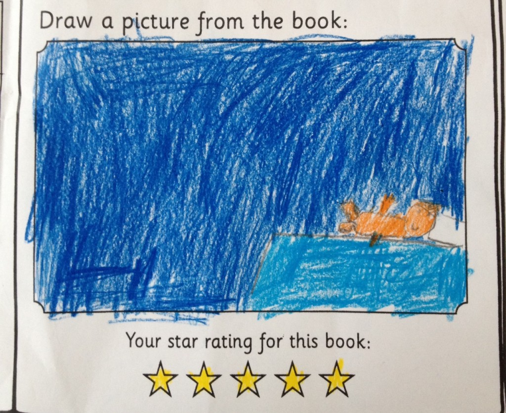 Miss H even drew a picture of her favourite part of the book.