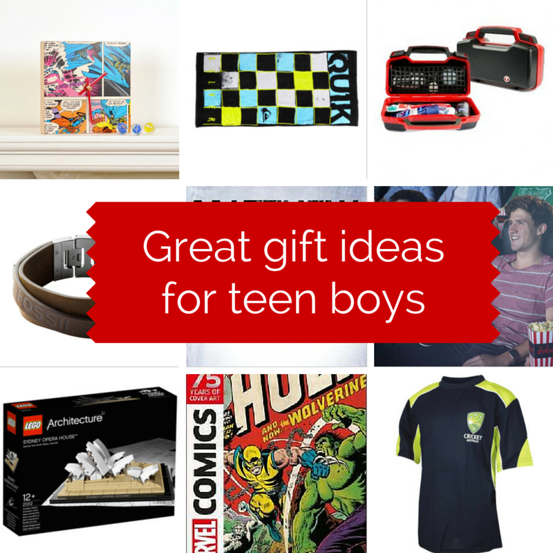 Great gift ideasfor teen boys