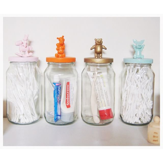 bun and friend storage jars