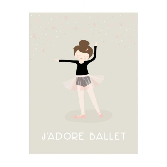 jadore ballet print
