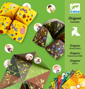 Djeco origami fortune teller bird game