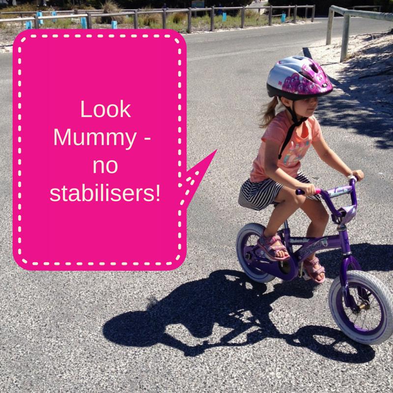 Look Mummy – no stabilisers!