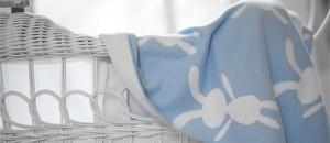 bunny blanket blue