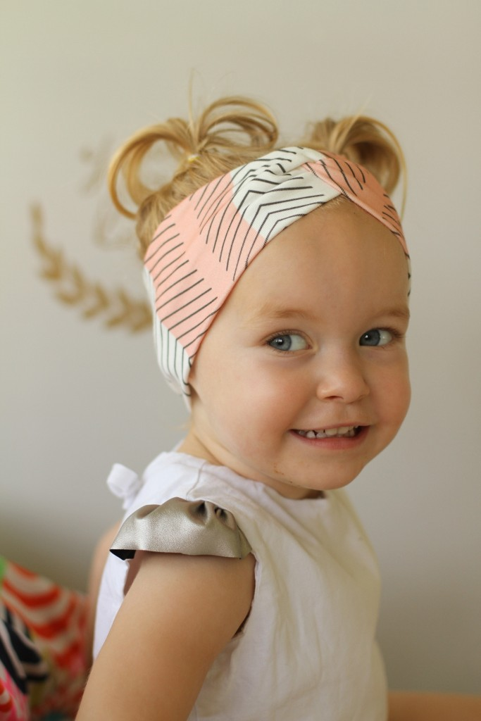 top knot girl headband