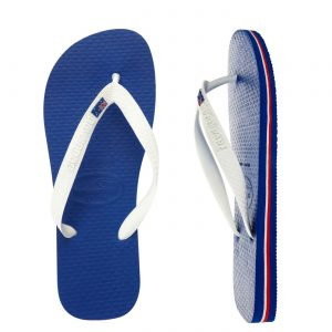 Australiana gifts - Havianas Aussie blue and white