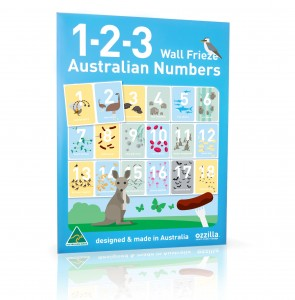 Australiana gifts - Numbers Wall Frieze