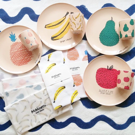 Bobo Choses melamine plates and cups
