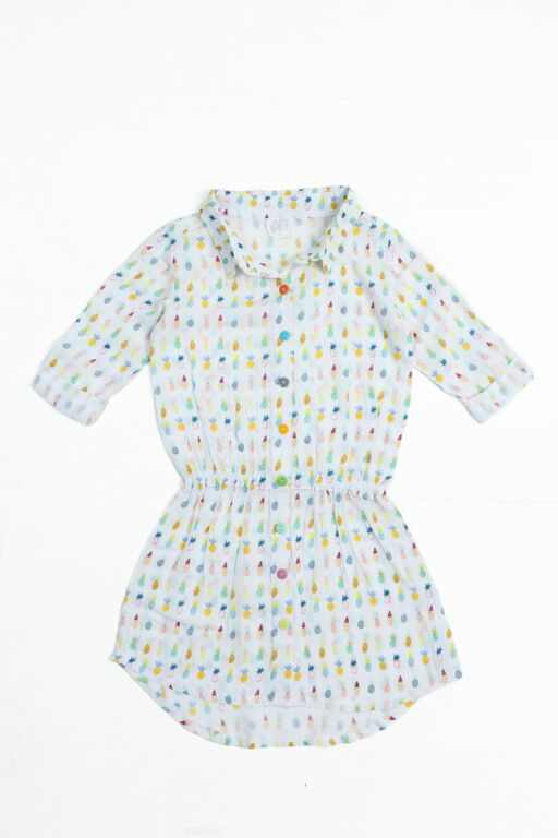 alex and ant summer fruits shirt dress