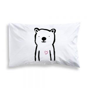 Sweetheart bear pillowcase