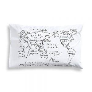 World-Map-Pillowcase