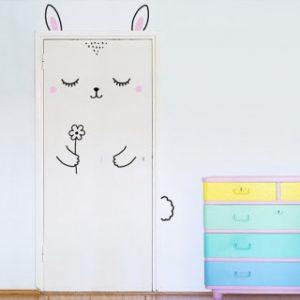 door decal - bunny