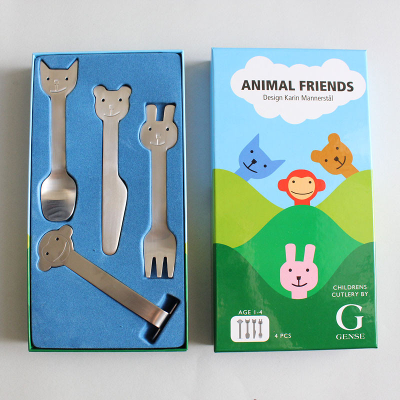 Animal cutlery set