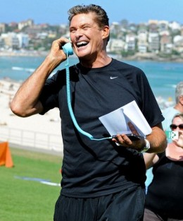 David Hasselhoff using old handset