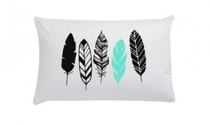 Feathers pillowcase