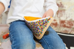 Make Me Iconic fairy bread purse in action
