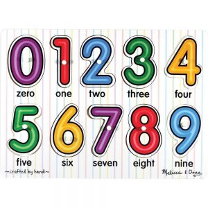 Melissa and Doug number peg puzzle