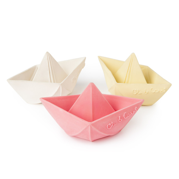 Oli and Carol origami boats