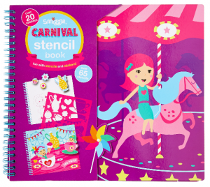 Smiggle carnival stencil book pink
