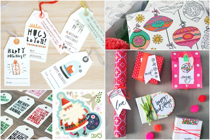 best printable gift tags wrap for holidays coolmompicks