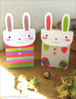Bunny bags - Fantastic free Easter printables and craft ideas - GIft Grapevine