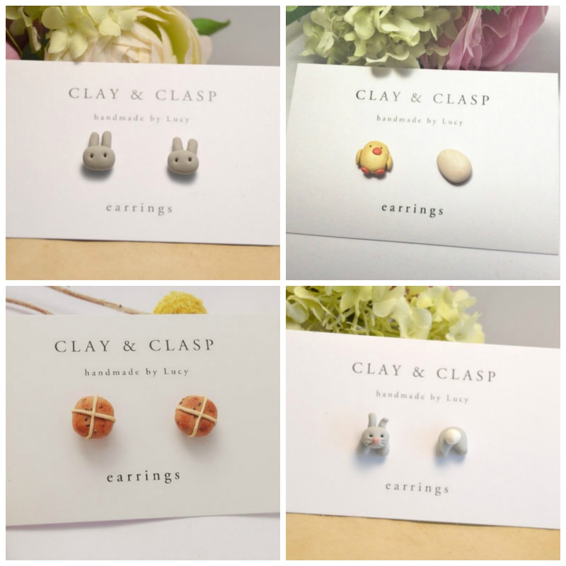 Clay and Clasp earrings - Easter gift guide for babies and kids - Gift Grapevine
