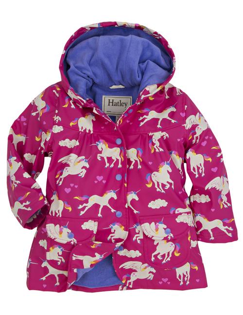 Hatley unicorns and rainbows rainjacket - 15 gift ideas for kids crazy about unicorns - Gift Grapevine