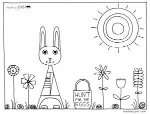 Made-by-Joel-Easter-Coloring-Sheet-Hunt-for-the-Eggs - Fantastic free Easter printables and craft ideas - GIft Grapevine