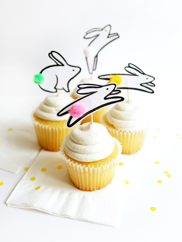 Printable jumping bunny cake toppers - Fantastic free Easter printables and craft ideas - GIft Grapevine
