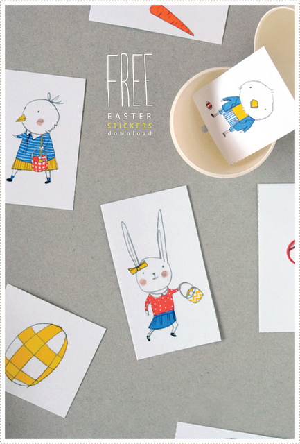 easter sticker download - Fantastic free Easter printables and craft ideas - GIft Grapevine