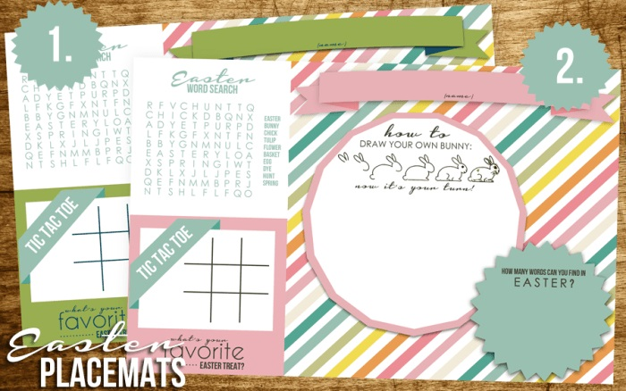 free printable easter placemats - Fantastic free Easter printables and craft ideas - GIft Grapevine