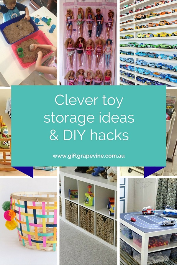 Clever toy storage ideas & DIY hacks - Gift Grapevine