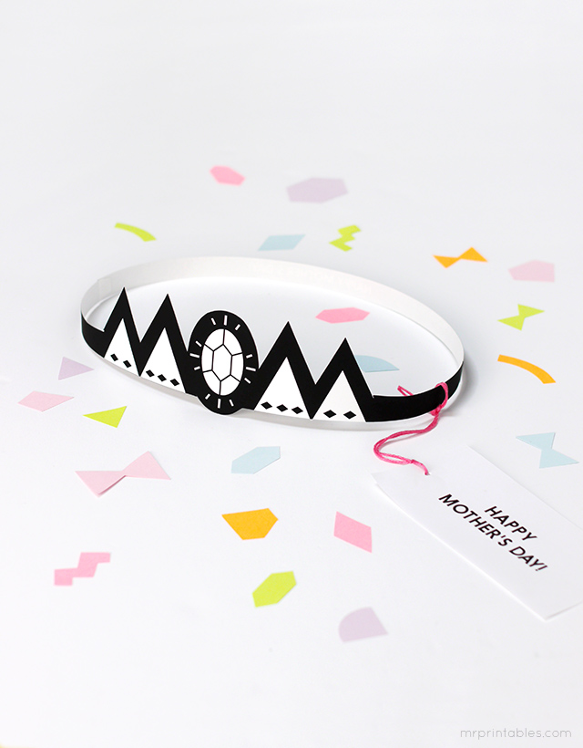 Mothers Day tiara - free mothers day printables - Gift Grapevine