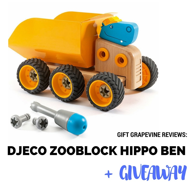 Djeco Zooblock Hippo Ben - Gift Grapevine review and giveaway