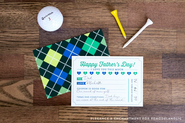Free Father's Day printables - All About Dad coupon