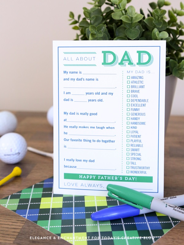 Free Father's Day printables - All About Dad