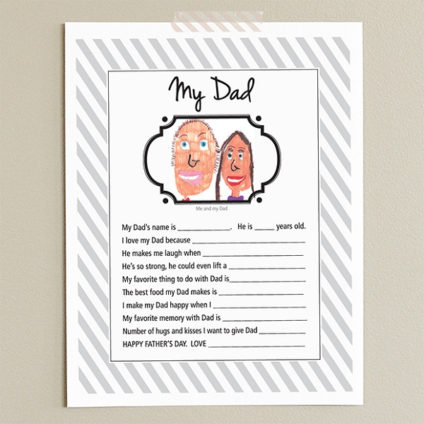 Free Father's Day printables - My Dad printable