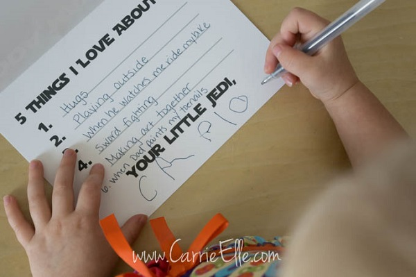 Free Father's Day printables - Star Wars Yoda card inside