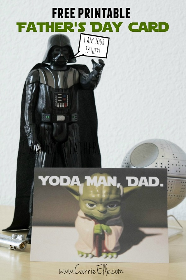 Free Father's Day printables - Star Wars Yoda card
