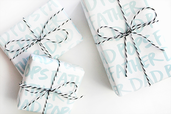 Free Father's Day printables - gift wrap