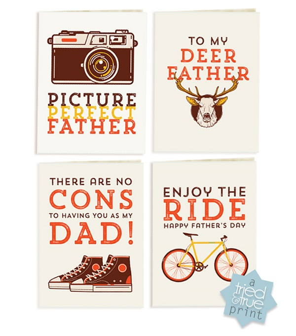 Free Father's Day printables - hipster cards