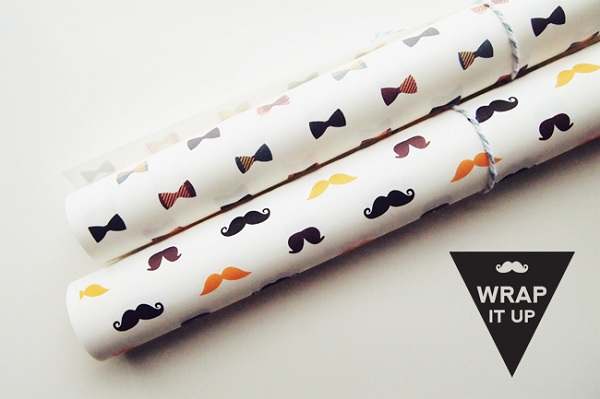 Free Father's Day printables - hipster gift wrap