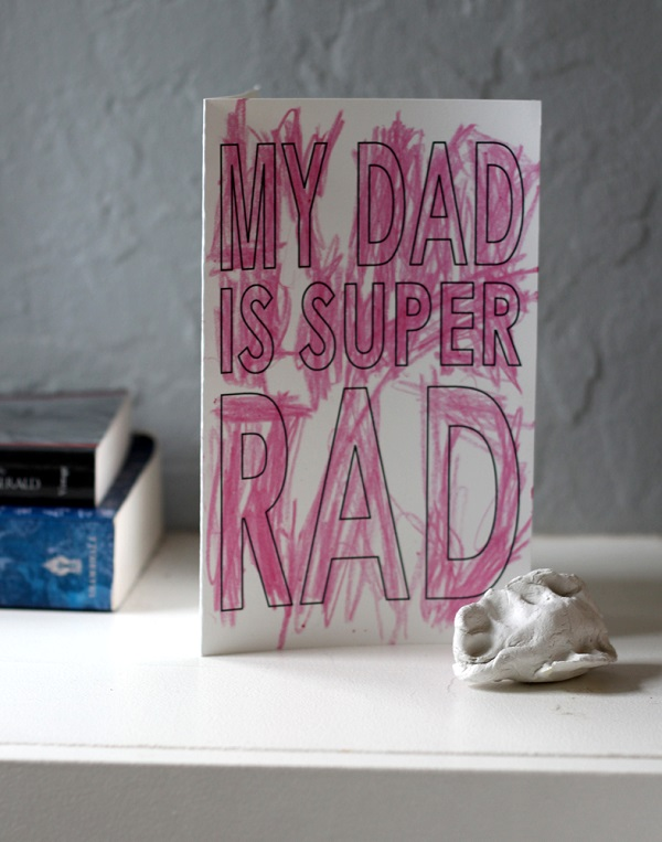 Free Father's Day printables - super rad dad card