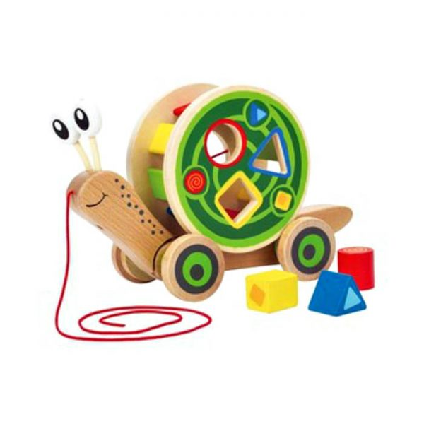 great-gifts-for-one-year-olds-hape-wooden-pull-along-shape-sorter-snail