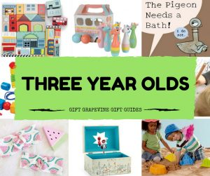 Gift Grapevine baby and kids gift guides - three year old