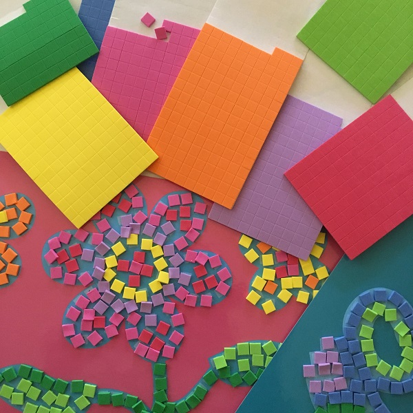 7 great sticky mosaic kits – craft for kids without the mess