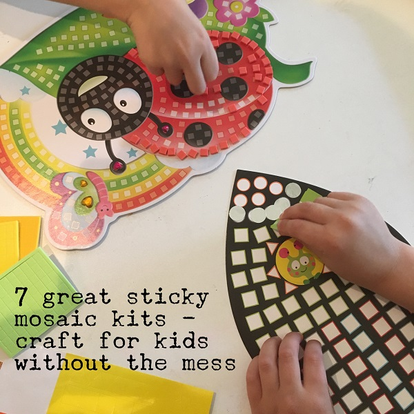 7 great sticky mosaic kits craft for kids without the mess for Motor kits for kids